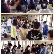 2015年7月愛媛・今治の会館で、菜食セミナー&ベジバイキング2